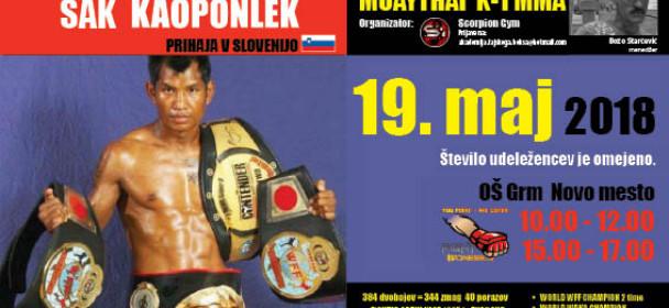 Tajski šampion prihaja v Novo mesto to soboto !!!NE ZAMUDITE !!!