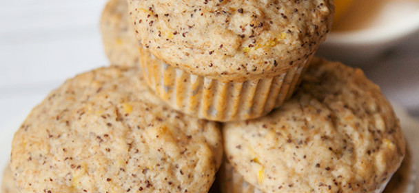 Limonino makovi muffini brez sladkorja