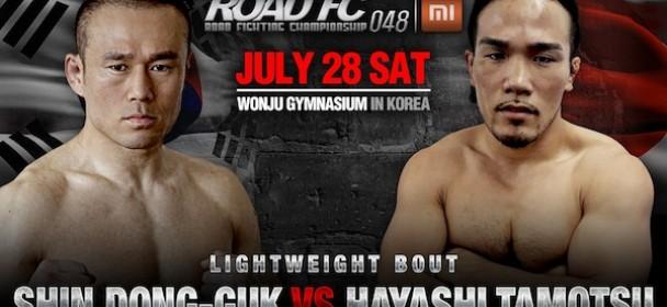 ROAD FC 048: the return of Fireman Fighter Shin Dong-Guk vs Hayashi Tamotsu