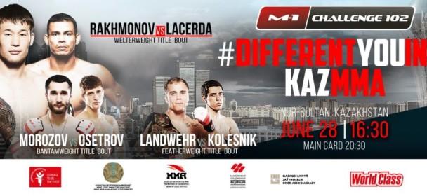Three title fights to headline #M1Challenge102 in Nur-Sultan, Kazakhstan.