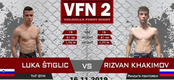 Valhalla Fight Night Celje 16.11.2019. z novo potrditvijo