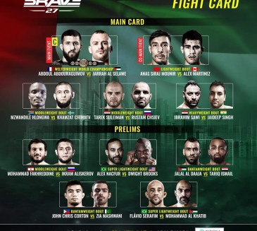 BRAVE 27 Fightcard