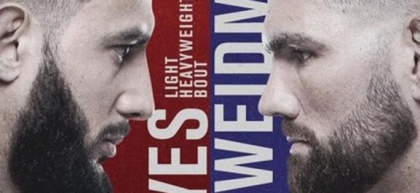 UFC on ESPN 6: Reyes vs. Weidman Weigh-in Results