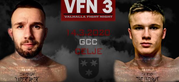 Valhalla Fight Night 3-Potrjeni prvi nastopajoči pari !!